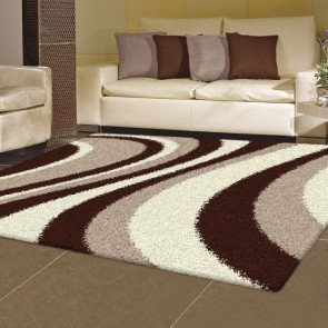 Arte Supreme Shaggy Beige Rug by Saray Rugs