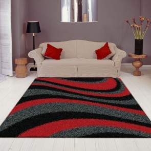 Arte Supreme Shaggy Red Rug by Saray Rugs