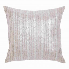 Silver Cable Knit Kav Cushion