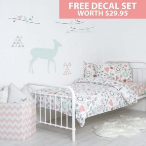 Sparrow Single Bed Duvet & Sheet Set by Lolli Living