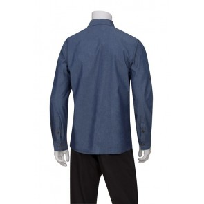 Detroit Indigo Blue Long-Sleeve Denim Shirt by Chef Works