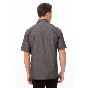 Detroit Black Short-Sleeve Denim Shirt by Chef Works