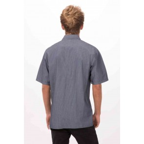 Detroit Indigo Blue Short-Sleeve Denim Shirt by Chef Works