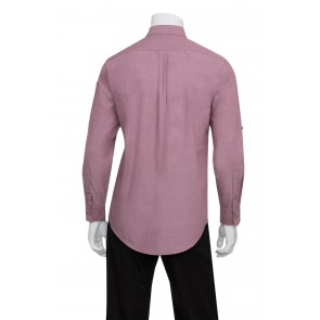 Mens Chambray Dusty Rose Shirt by Chef Works