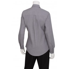 Ladies Chambray Grey Shirt by Chef Works