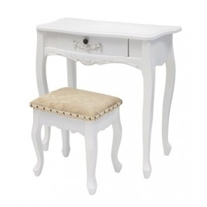 Living Good Small Dressing Table with Stool