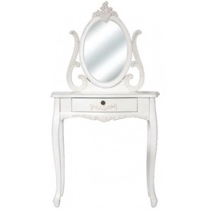 Living Good Small Dressing Table With Mirror