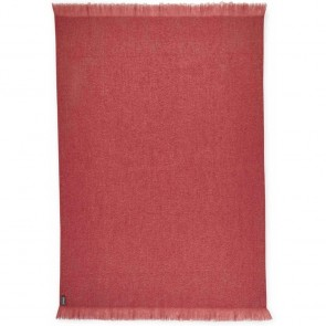 Coral Mohair Throw Rug by St Albans