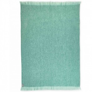 Teal Mohair Throw Rug by St Albans