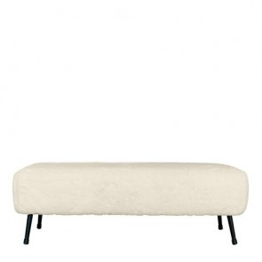 Sudbury Bench 120X40X40CM Ivory by J Elliot Home