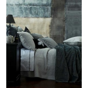 MM Linen Vivi Charcoal European Pillowcase