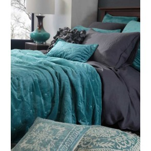 MM Linen Vivi Teal European Pillowcase