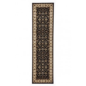 Sydney 1 Black Ivory Runner by Rug Culture