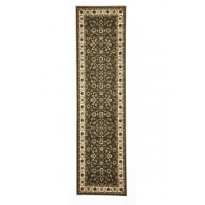 Sydney 1 Green Ivory Runner by Rug Culture