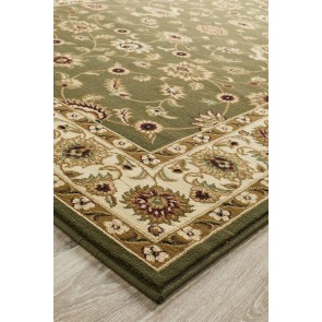 Sydney 1 Green Ivory by Rug Culture