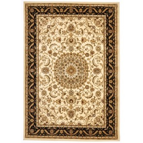 Sydney 9 Ivory Black by Rug Culture