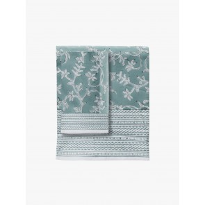 Linen and Moore Evergreen Table Cloth