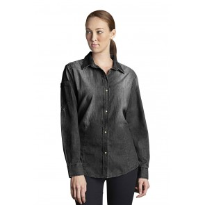 Trenton Womens Black Denim Shirt