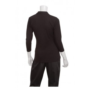 Definity Women's Black Knit Polo Shirt by Chef Works