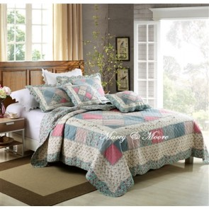 Macey & Moore Tuscany Blue Coverlet