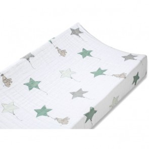 Aden and Anais Up Up & Away Elephant Changing Pad Cover
