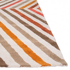 Wanax Hand Tufted Wool Rug Orange by Rug Culture