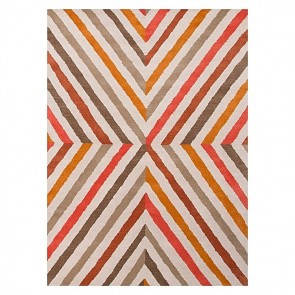 Wanax Hand Tufted Wool Rug, Orange