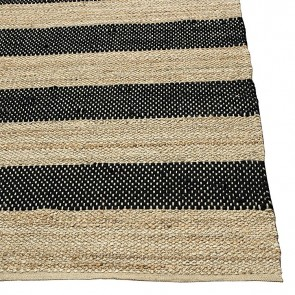 Leda Jute Rug Black by Rug Culture