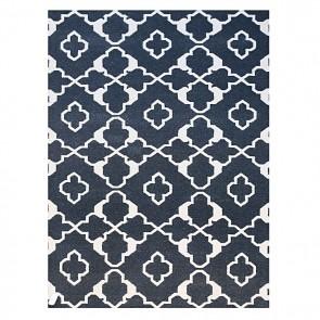 Costa Handmade Flat Weave Rug, Charcoal
