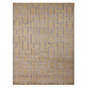 Maya Hand Knotted Rug Gold by Rug Culture
