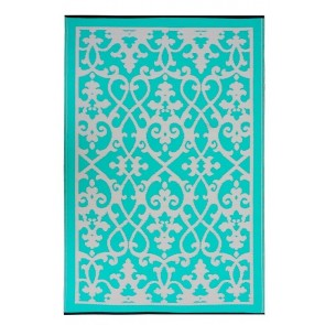 Venice Turquoise Outdoor Rug by FAB Rugs