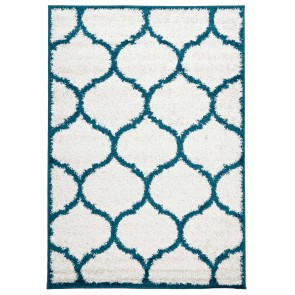 Viva 808 White and Blue by Rug Culture