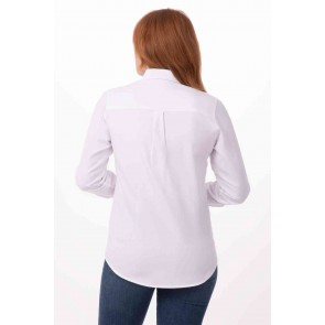 Women's White Oxford Shirt by Chef Works