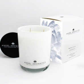 470g Glass Candle White Lotus