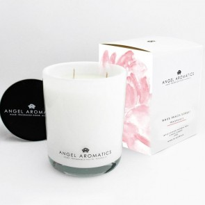470g Glass Candle White Peach Sorbet
