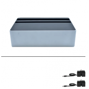 Wireless Aluminium Silver & Black Package by Alldock