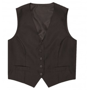 Women's Black Basic Vest by Chef Works