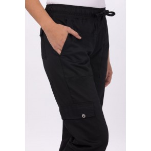 Women's Black Cargo Chef Pant by Chef Works