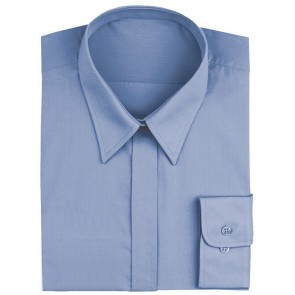 Women's French Blue Dress Shirt