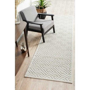 York Alice Natural White Runner by Rug Culture
